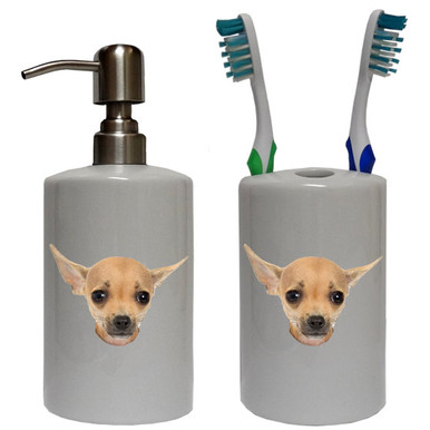 Chihuahua Bathroom Set
