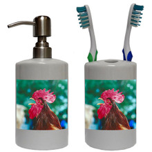 Rooster Bathroom Set