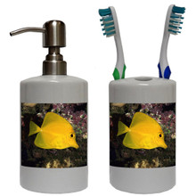 Yellow Tang Bathroom Set
