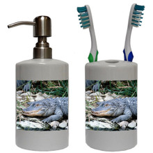 Alligator Bathroom Set