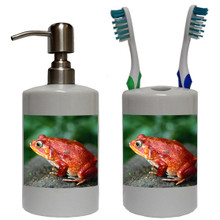 Tomato Frog Bathroom Set