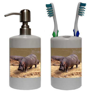 Hippo Bathroom Set