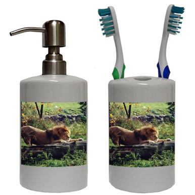 Lion Bathroom Set