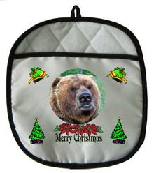 Bear Christmas Pot Holder