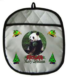 Panda Bear Christmas Pot Holder