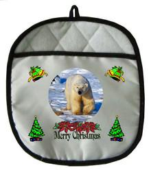 Polar Bear Christmas Pot Holder