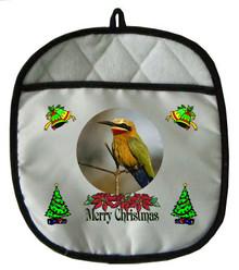 Bee Eater Christmas Pot Holder
