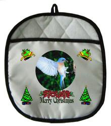 Bluebird Christmas Pot Holder