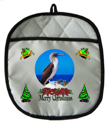 Blue Footed Booby Christmas Pot Holder