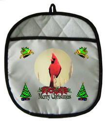 Cardinal Christmas Pot Holder