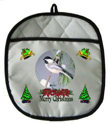 Chickadee Christmas Pot Holder
