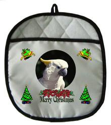 Cockatoo Christmas Pot Holder
