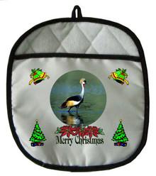 Crowned Crane Christmas Pot Holder
