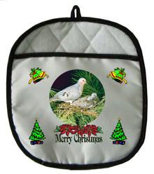 Dove Christmas Pot Holder