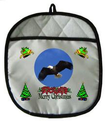 Eagle Christmas Pot Holder