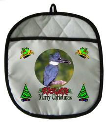 Belted Kingfisher Christmas Pot Holder