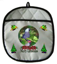 African Grey Parrot Christmas Pot Holder