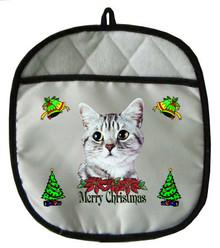 American Shorthair Cat Christmas Pot Holder