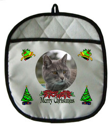 Cat Christmas Pot Holder