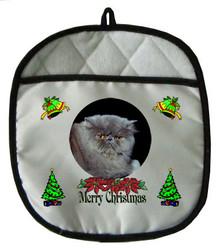 Persian Cat Christmas Pot Holder