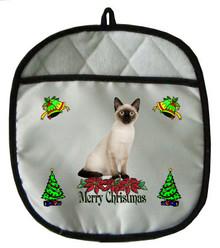 Siamese Cat Christmas Pot Holder