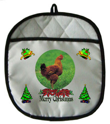 Chicken Christmas Pot Holder