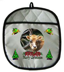 Cow Christmas Pot Holder