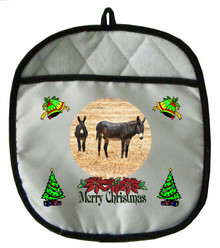 Donkey Christmas Pot Holder