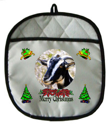 Goat Christmas Pot Holder