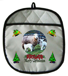 Lamb Christmas Pot Holder