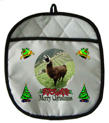 Llama Christmas Pot Holder