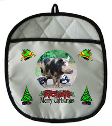 Pig Christmas Pot Holder