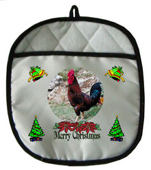 Rooster Christmas Pot Holder