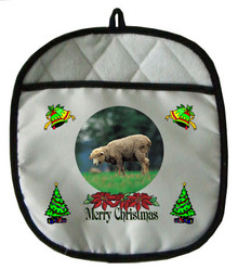 Sheep Christmas Pot Holder