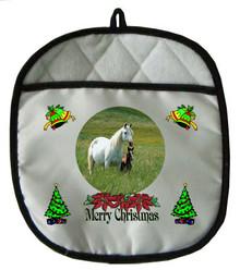 Horse Christmas Pot Holder