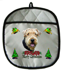 Airedale Christmas Pot Holder
