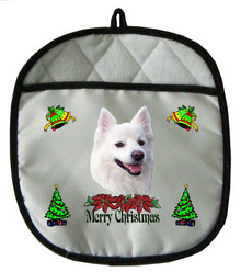 American Eskimo Dog Christmas Pot Holder