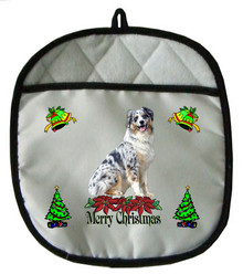 Australian Shepherd Christmas Pot Holder