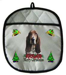Basset Hound Christmas Pot Holder
