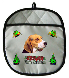 Beagle Christmas Pot Holder