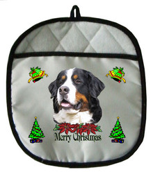 Bernese Mountain Dog Christmas Pot Holder