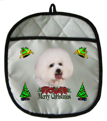 Bichon Christmas Pot Holder