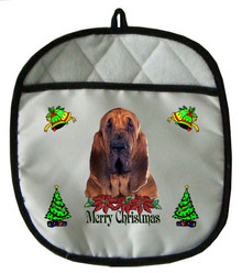 Bloodhound Christmas Pot Holder