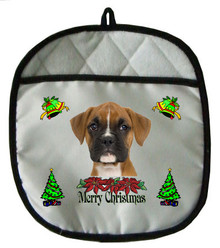 Boxer Christmas Pot Holder