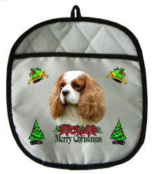 Cavalier King Charles Christmas Pot Holder