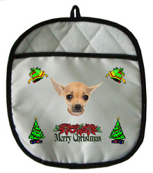 Chihuahua Christmas Pot Holder