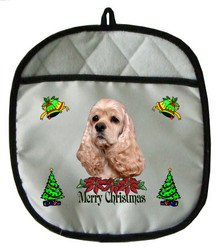 Cocker Spaniel Christmas Pot Holder