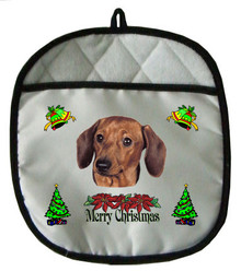 Dachshund Christmas Pot Holder