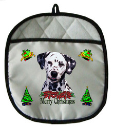Dalmatian Christmas Pot Holder