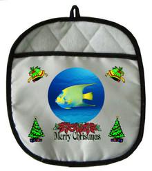Angelfish Christmas Pot Holder